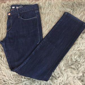 💞Earnest Sewn Dark Wash Straight Leg Jeans